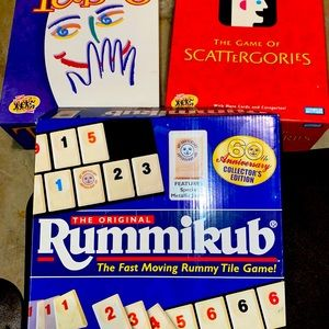 3 Like new Family Board Games